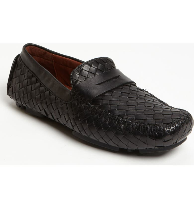 ROBERT ZUR 'San Tropez' Penny Loafer, Main, color, BLACK