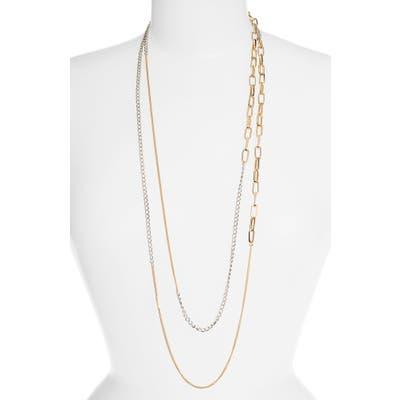 Allsaints Long Mixed Chain Necklace