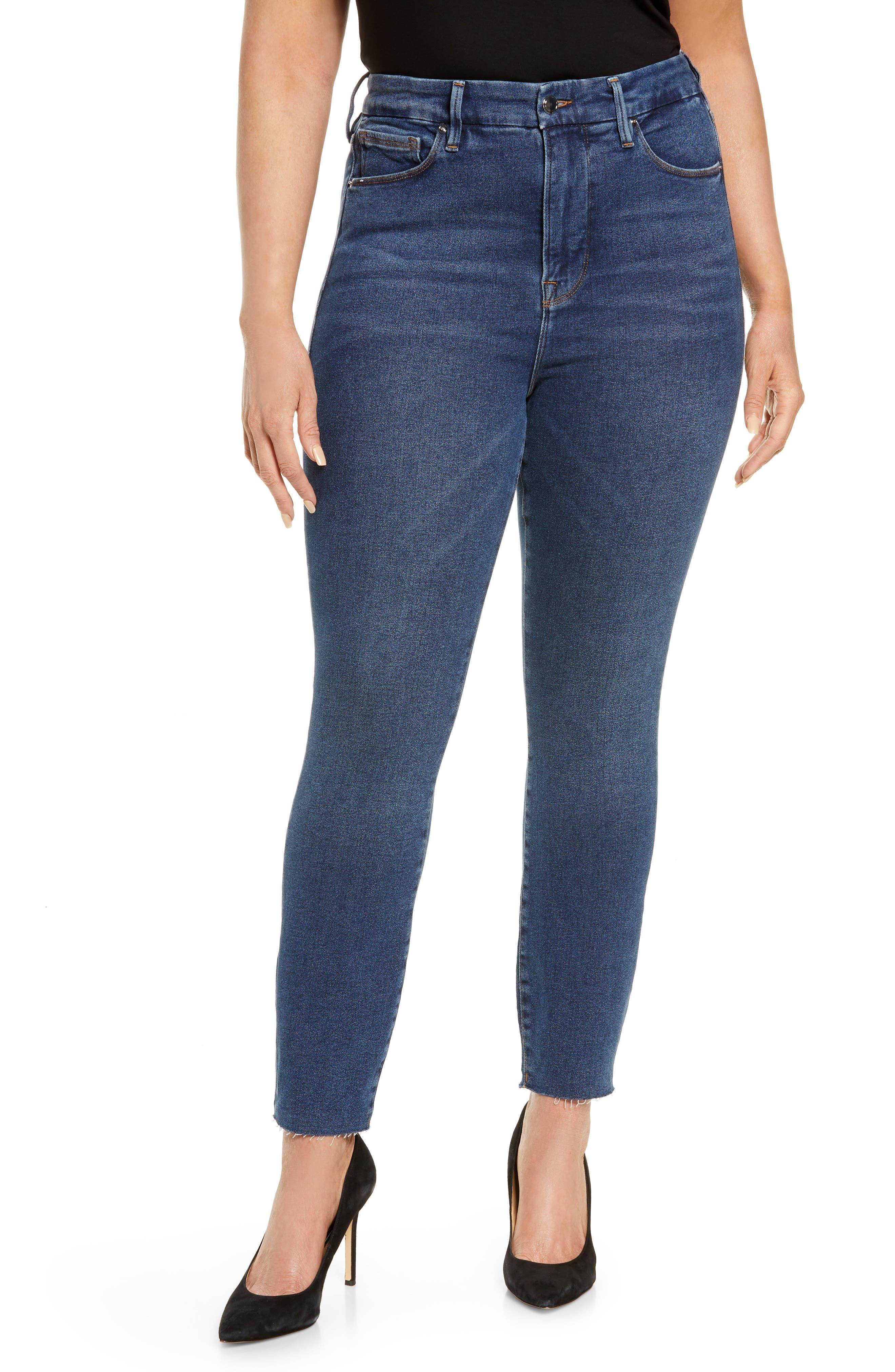 Image of Good American Good Legs Raw Edge Skinny Jeans