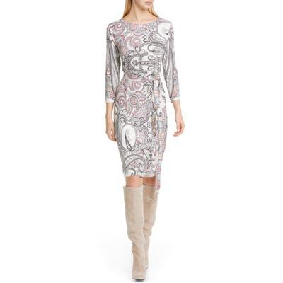 Etro Paisley Print Jersey Dress, 8 IT - White