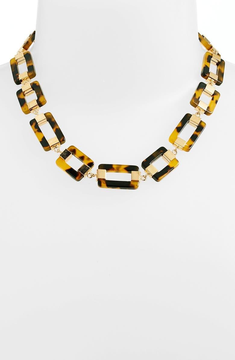 LAUREN RALPH LAUREN Rectangular Link Collar Necklace, Main, color, 201