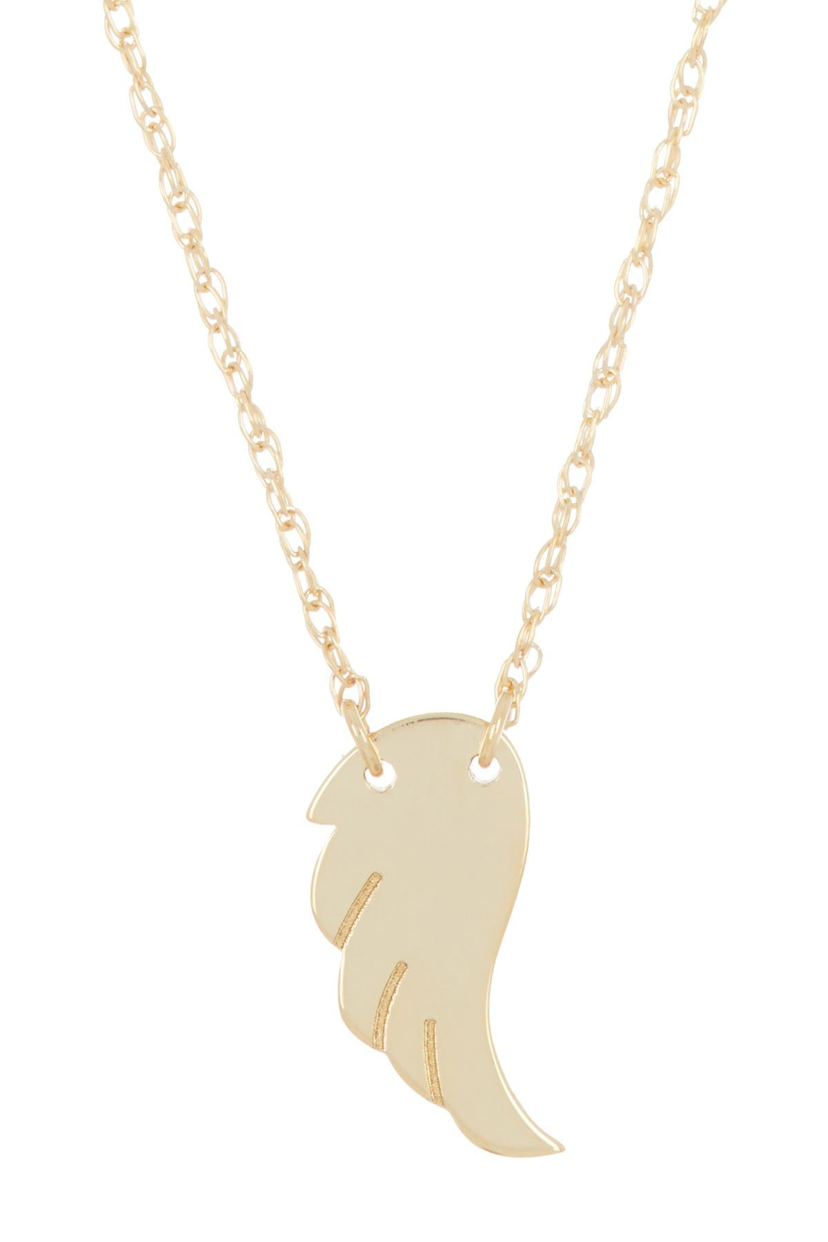 Image of Candela 10K Yellow Gold Mini Wing Pendant Necklace