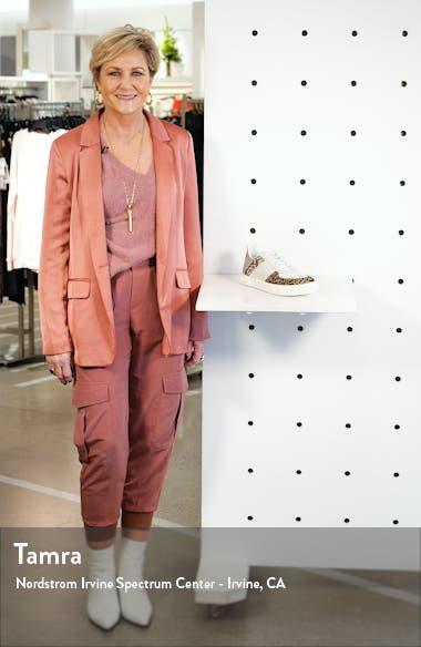 Blabber Genuine Calf Hair Snake Embossed Sneaker, sales video thumbnail
