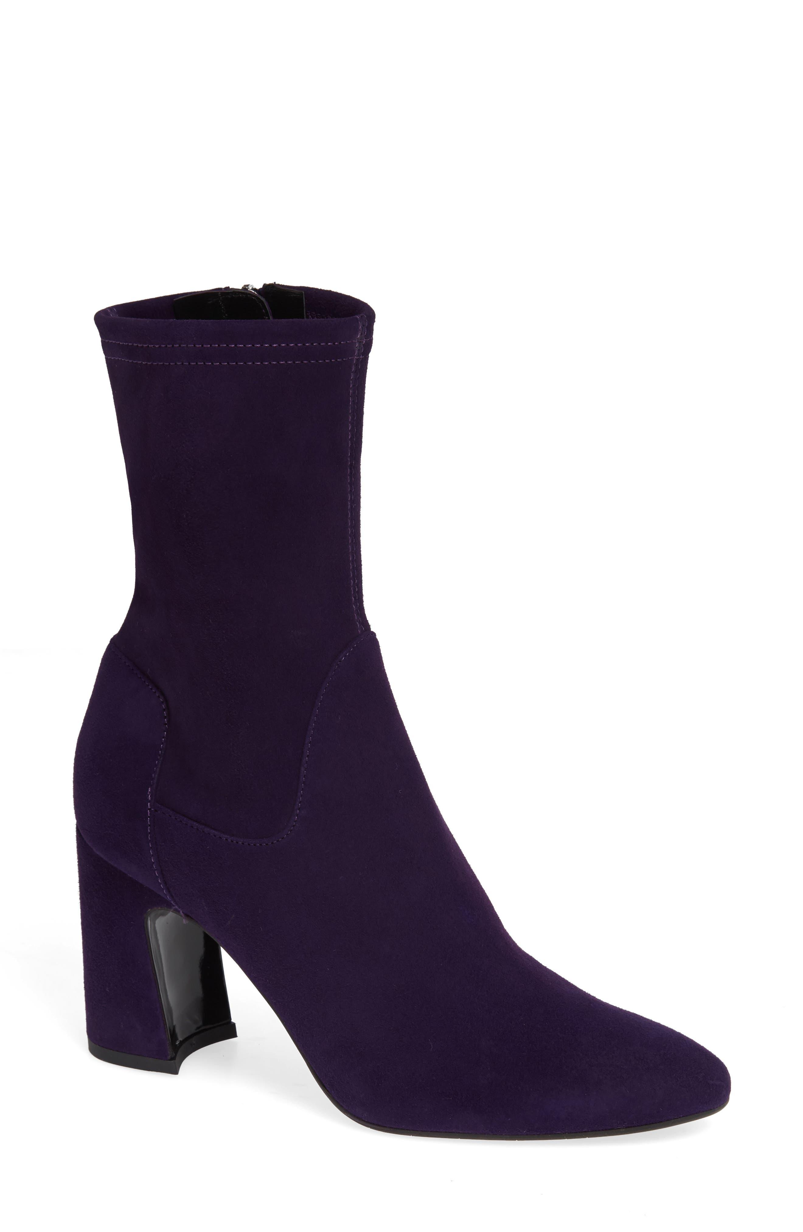 Aquatalia Nastasia Stretch Suede Boot- Purple