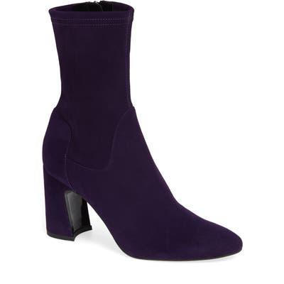 Aquatalia Nastasia Stretch Suede Boot, Purple