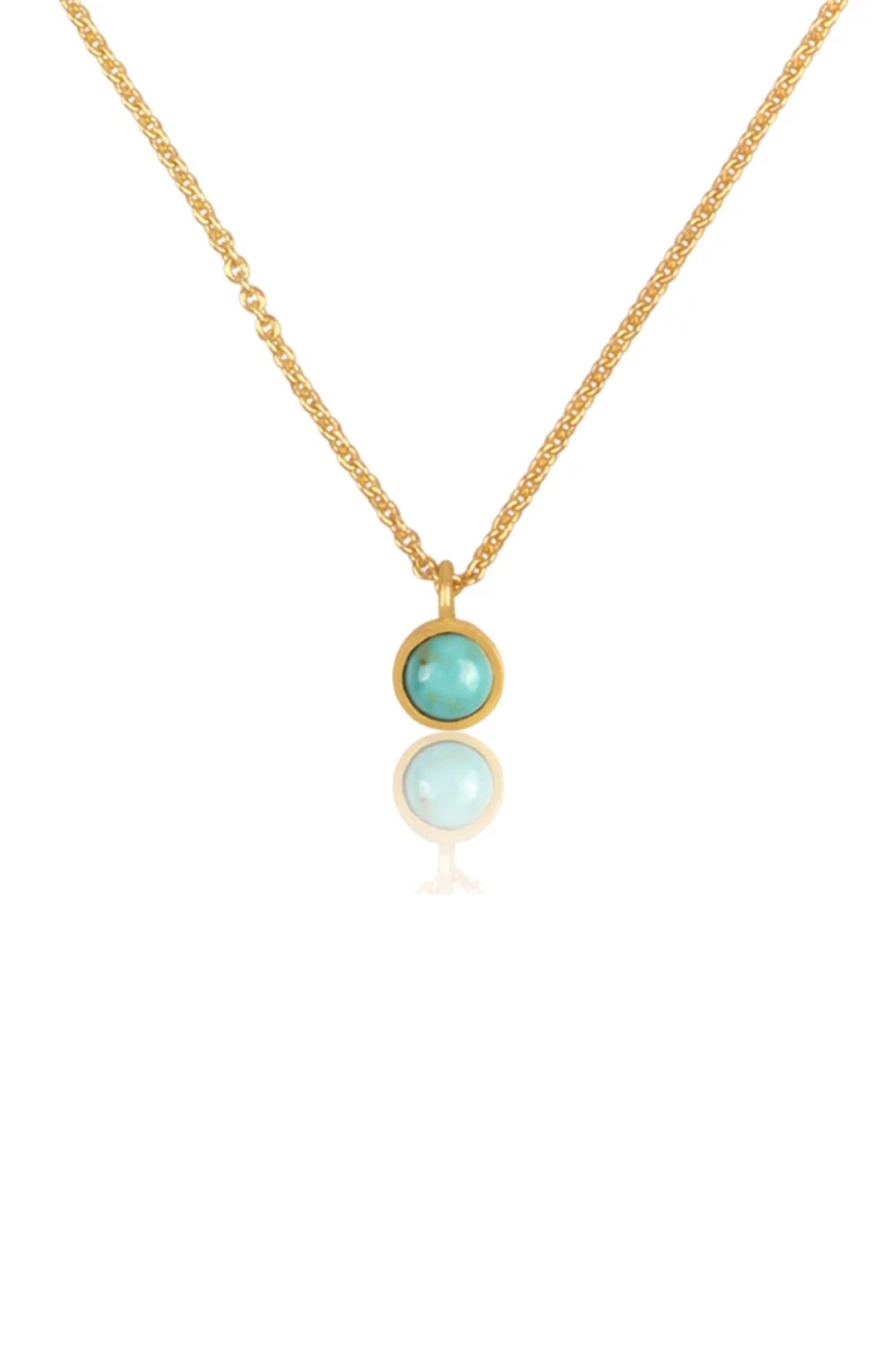 Dainty Turquoise Pendant Necklace