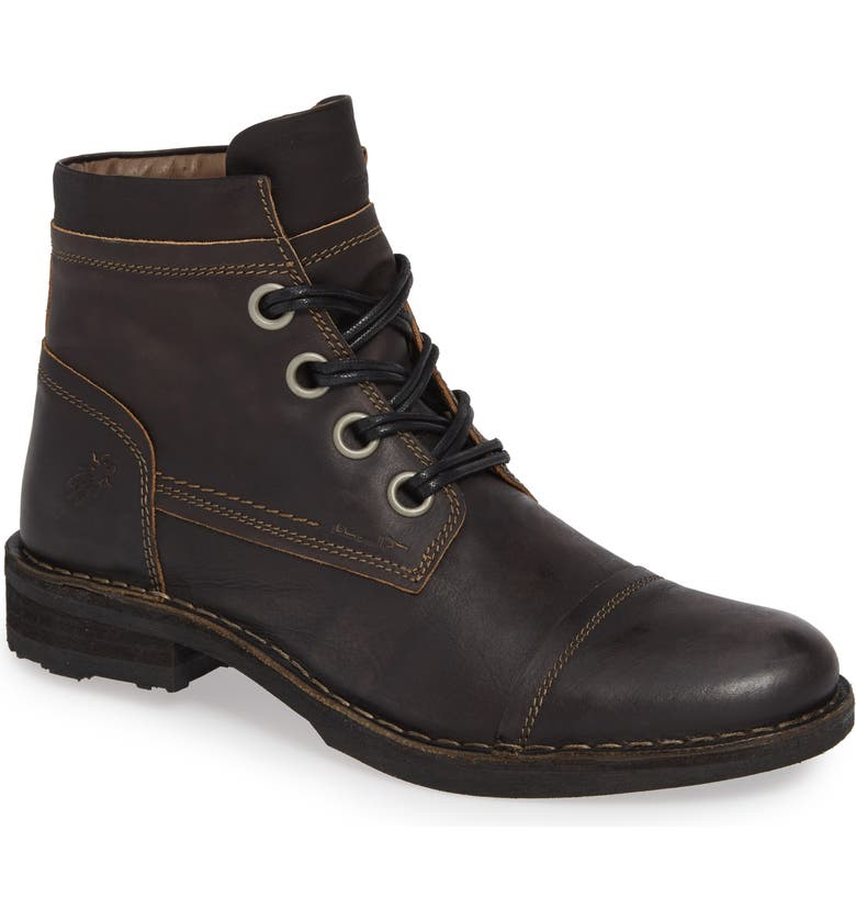 FLY LONDON Rize Cap Toe Boot, Main, color, 001