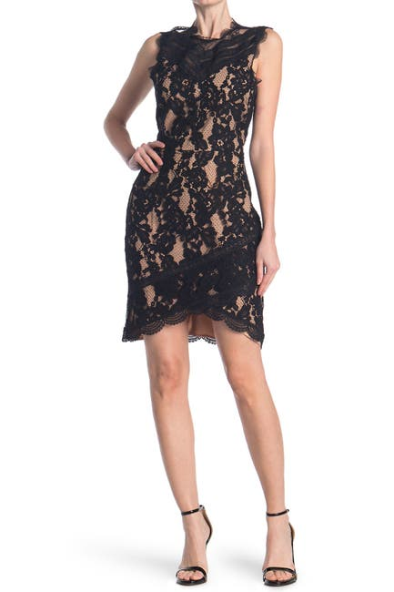 Image of Adelyn Rae Doreen Lace Cocktail Dress