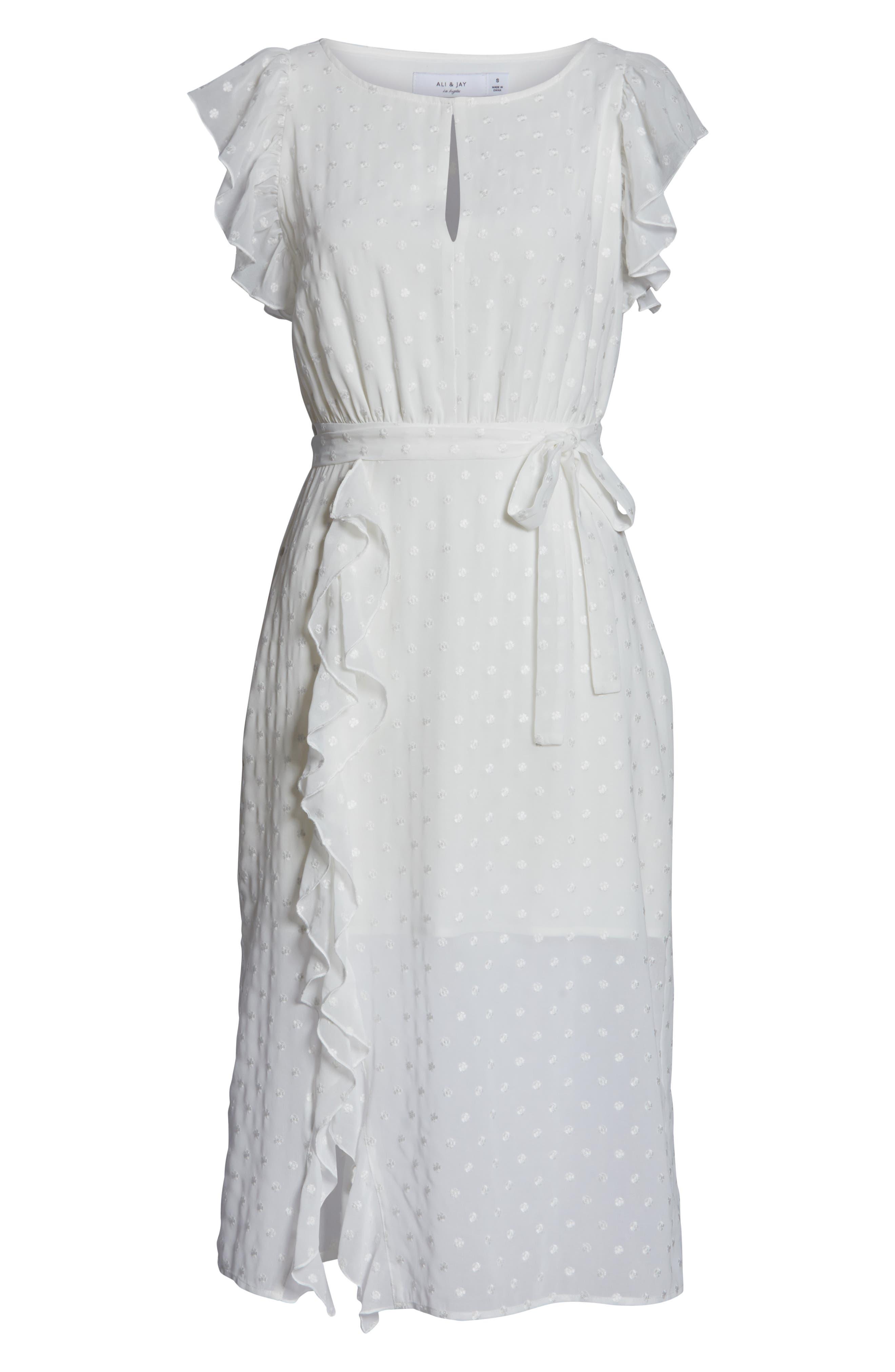 ,                             Isn't She Lovely Ruffle Midi Dress,                             Alternate thumbnail 7, color,                             104