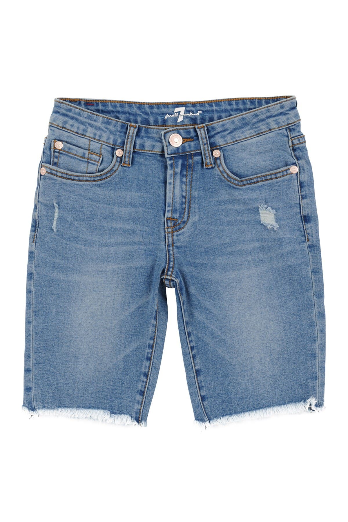 Image of 7 For All Mankind Raw Hem Denim Shorts