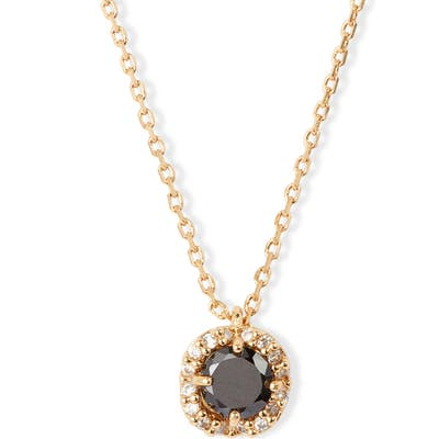 Kate Spade New York Pave Round Mini Pendant Necklace