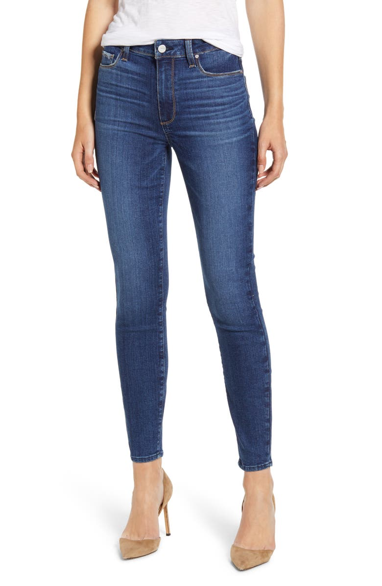 PAIGE Hoxton High Waist Crop Skinny Jeans, Main, color, SOCAL