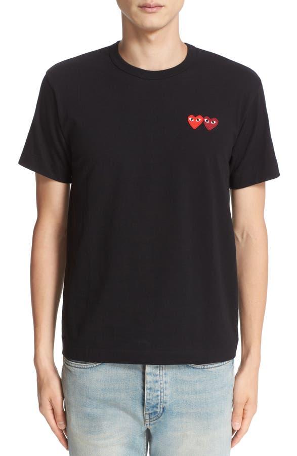 ff6d86dd74d4 Comme des Garçons PLAY Twin Hearts Slim Fit Jersey T-Shirt   Nordstrom