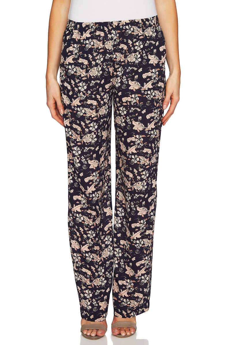 CECE Ivy Forest Soft Wide Leg Pants, Main, color, 691