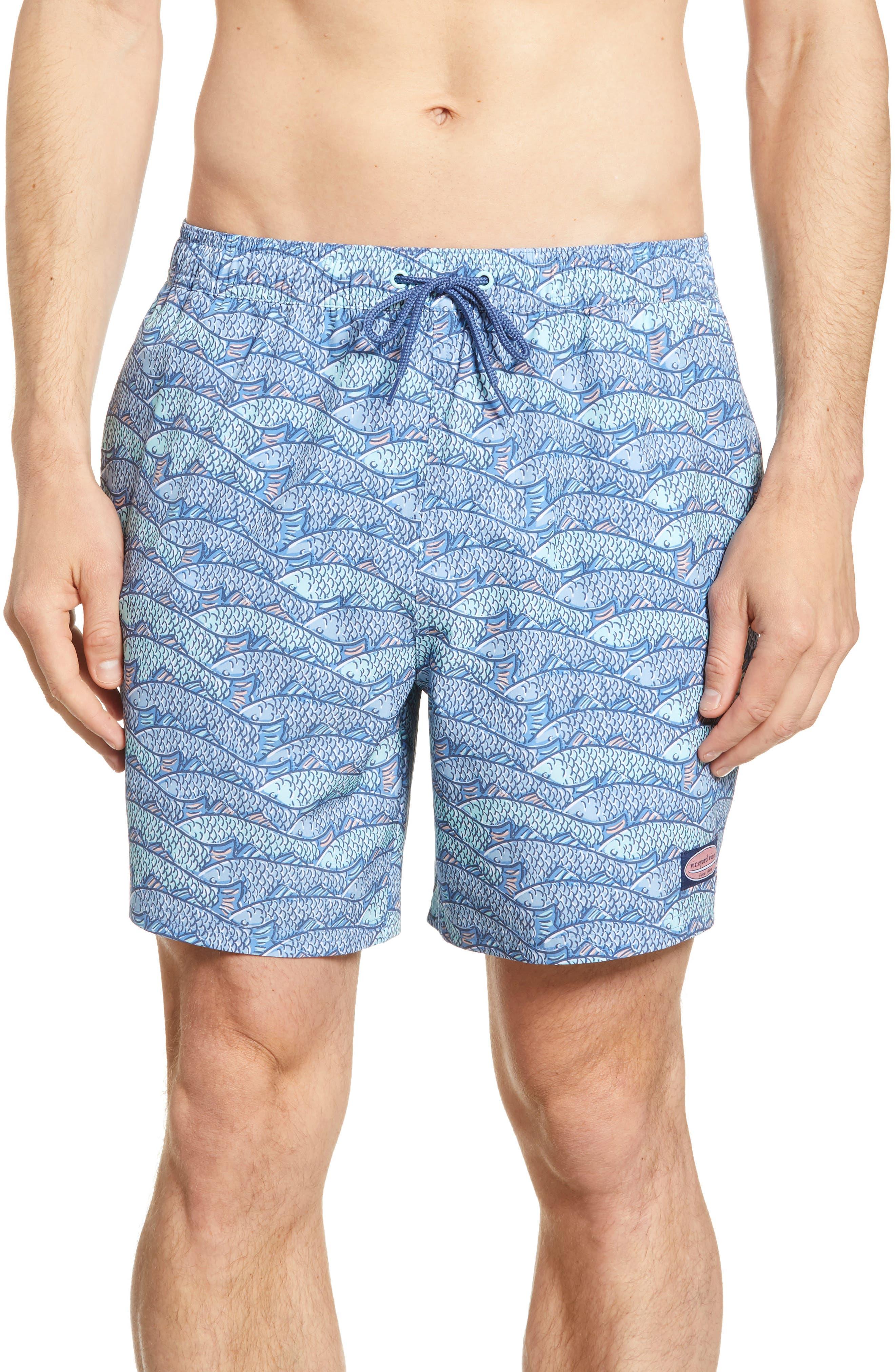 e4010d9b995f0 Vineyard Vines Chappy Fish Traffic Swim Trunks, Blue