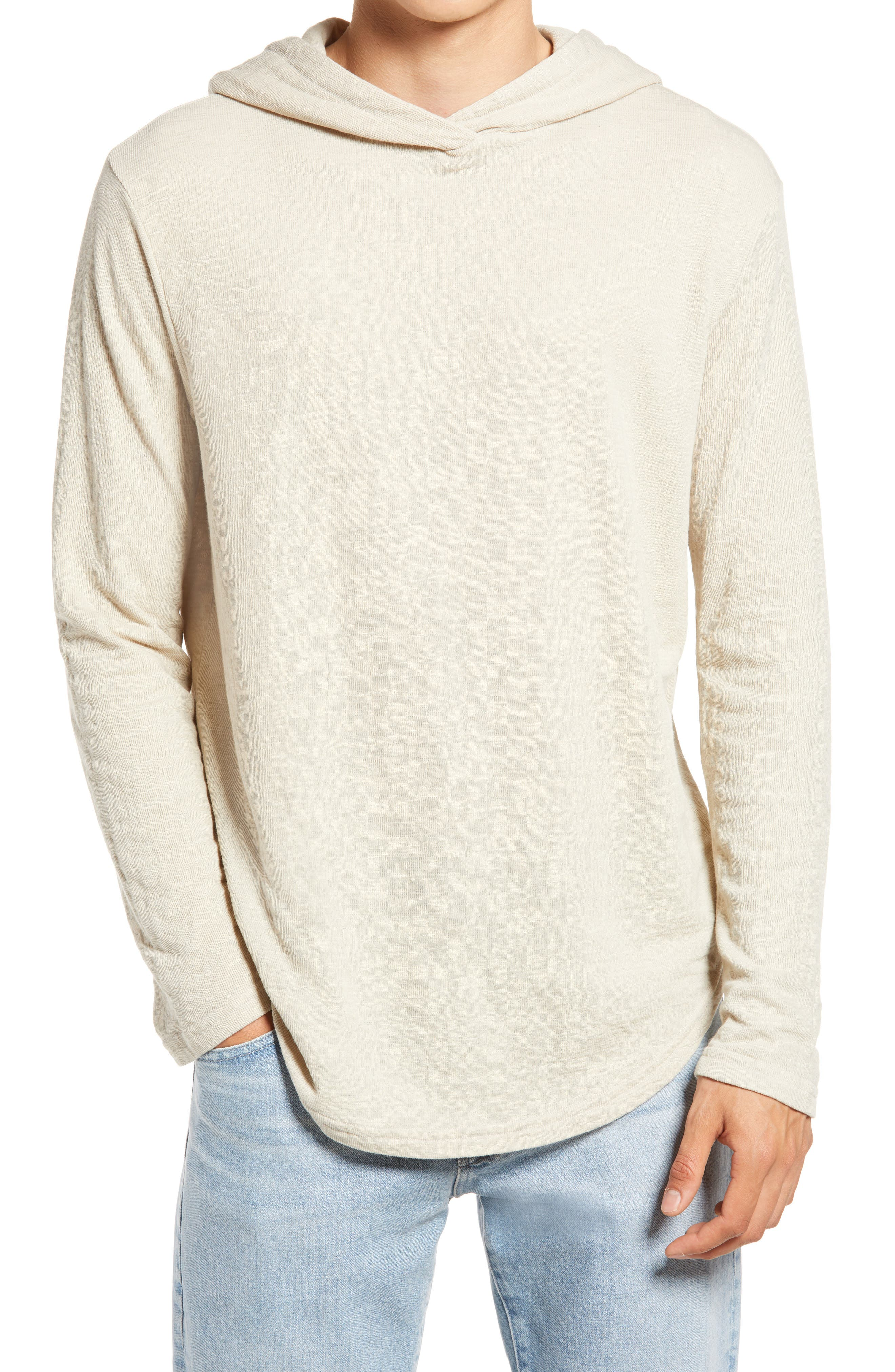 Trim Fit Double Layer Scallop Hoodie