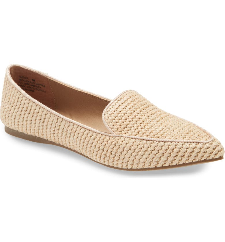 STEVE MADDEN Feather Loafer Flat, Main, color, RAFFIA