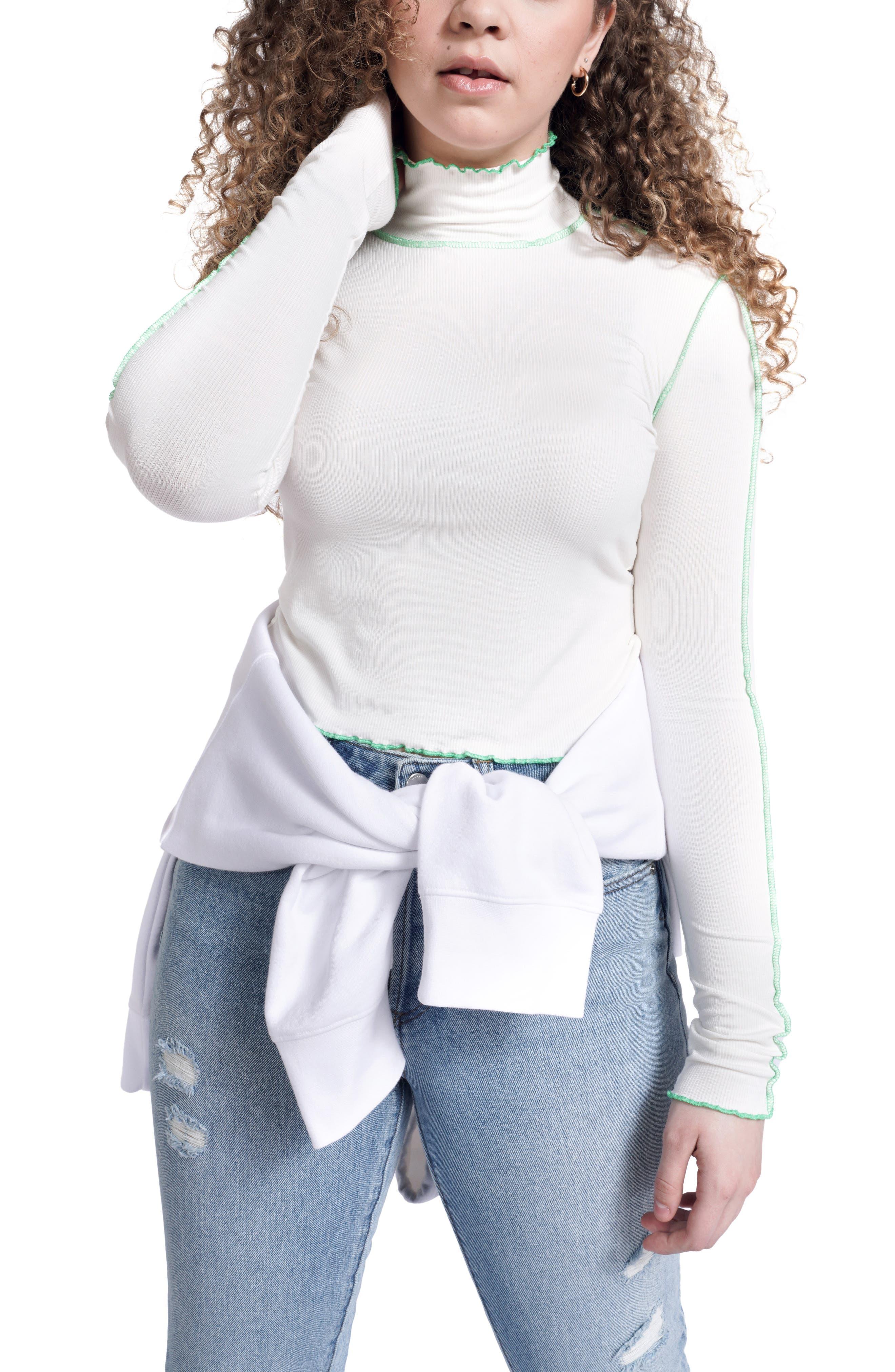Women's Bp. + Wildfang Mock Neck Long Sleeve Crop Top