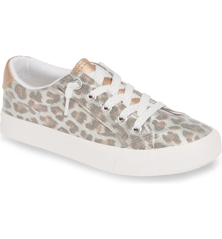 TREASURE & BOND Glitter Slip-On Sneaker, Main, color, LEOPARD FAUX SUEDE