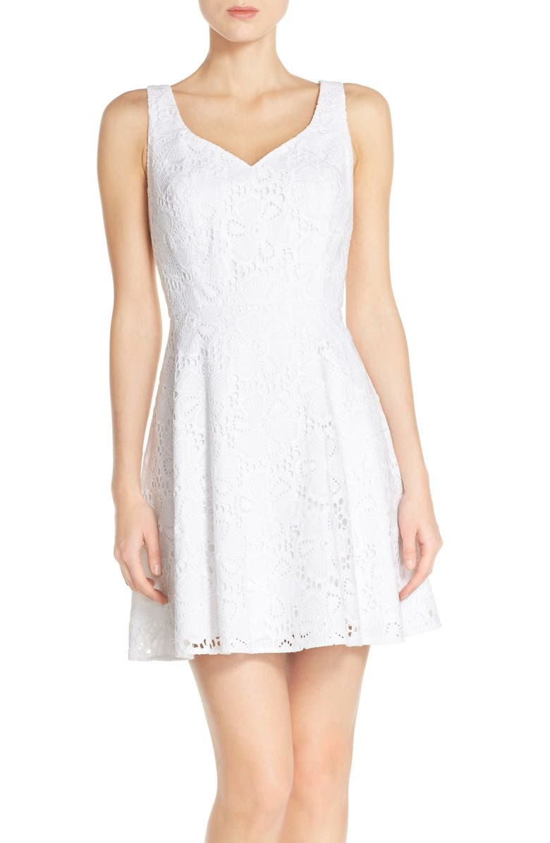 494d34a7a89250 Lilly Pulitzer® 'Marla' Lace Fit & Flare Dress | Nordstrom