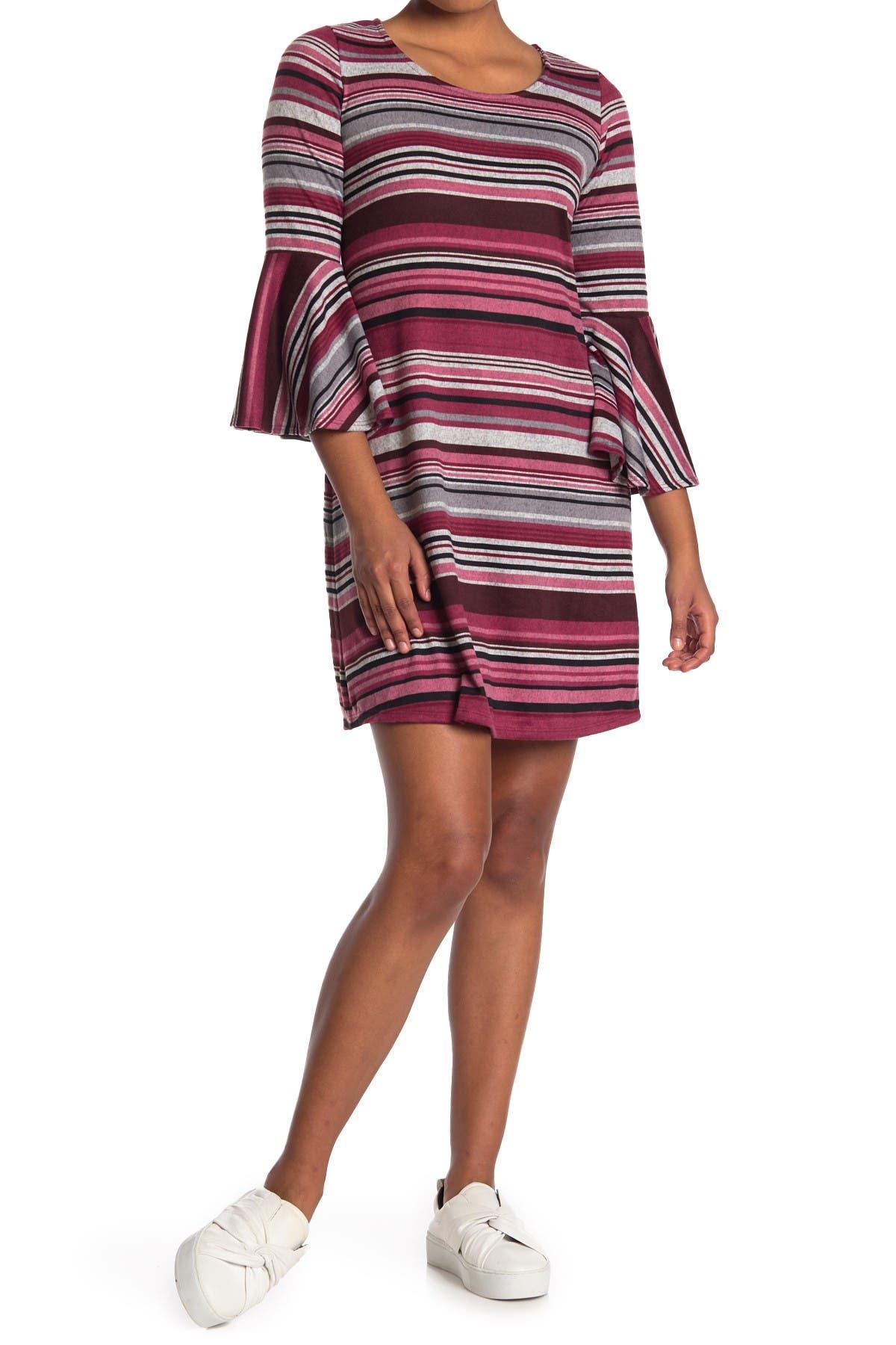 Image of TASH + SOPHIE Cozy Stripe A-Line Dress