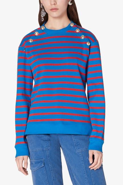 Image of DEREK LAM Lucie Sailor Button Sweatshirt