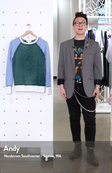 Colorblock Crewneck Sweatshirt, sales video thumbnail