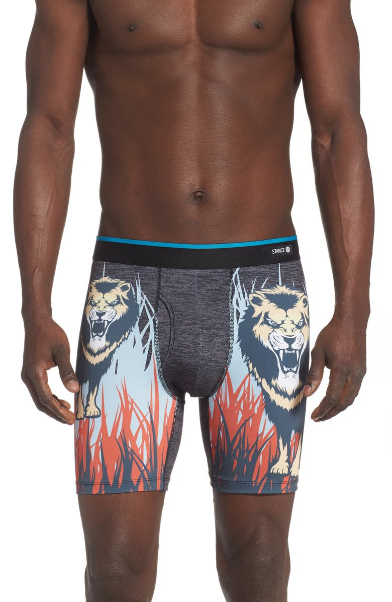 STANCE Jungle King Boxer Briefs, Main, color, BLACK