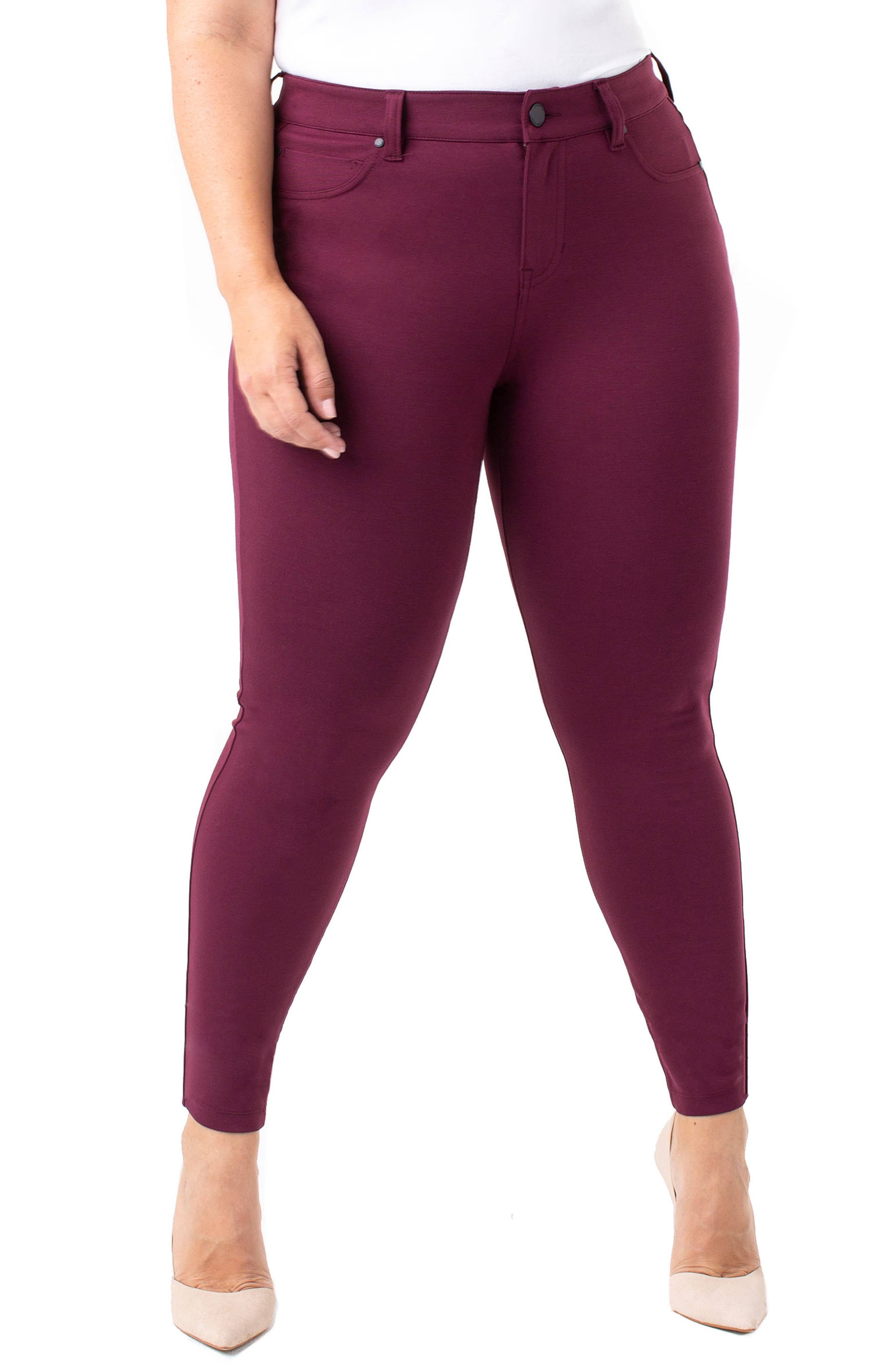 Plus Size Liverpool Madonna Leggings, Red