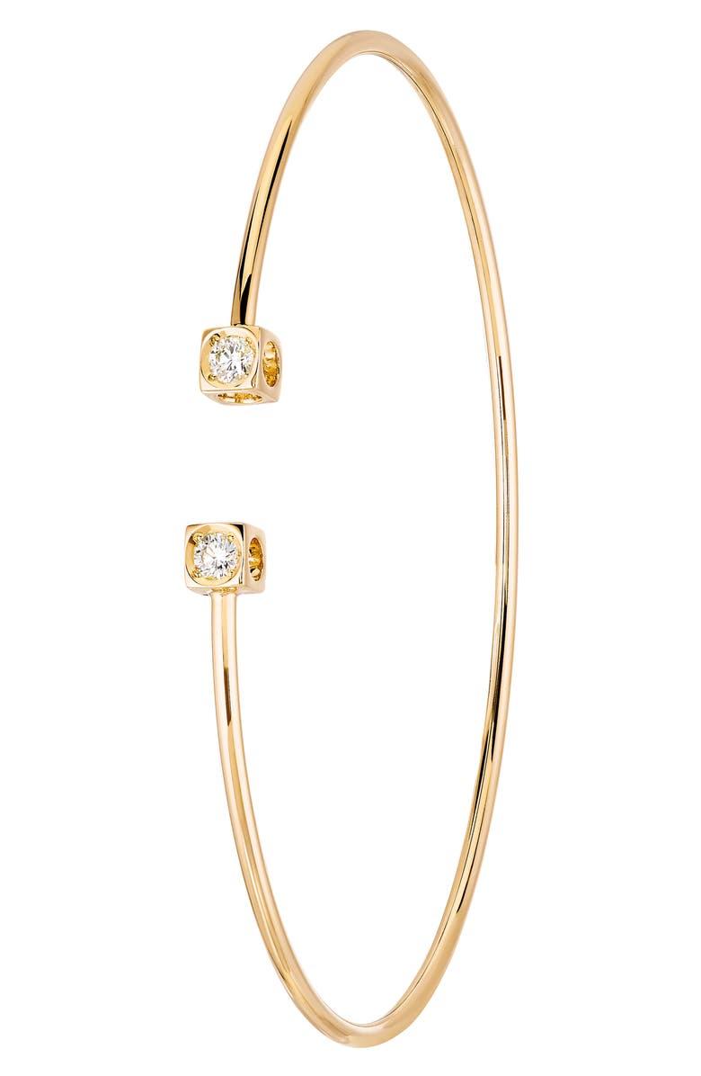 DINH VAN Le Cube Diamant Small 18K Gold Flex Bracelet, Main, color, 710