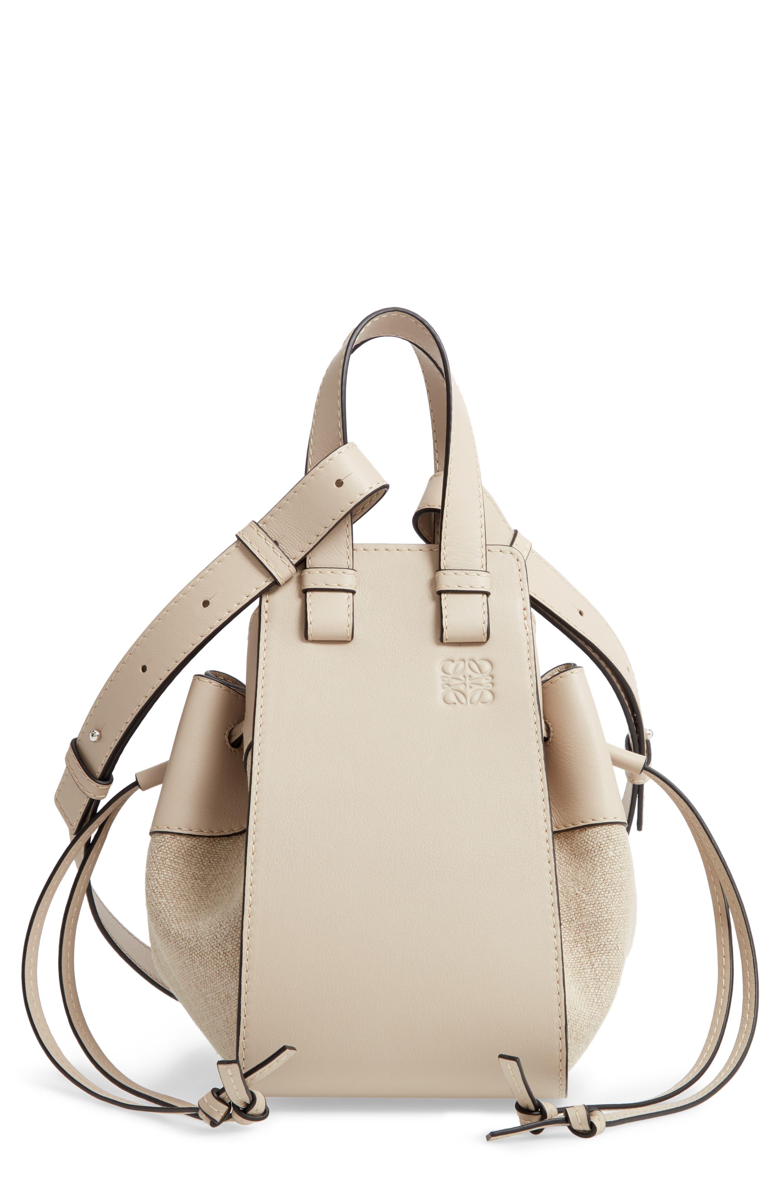 Loewe Small Hammock Leather & Linen Hobo | Nordstrom