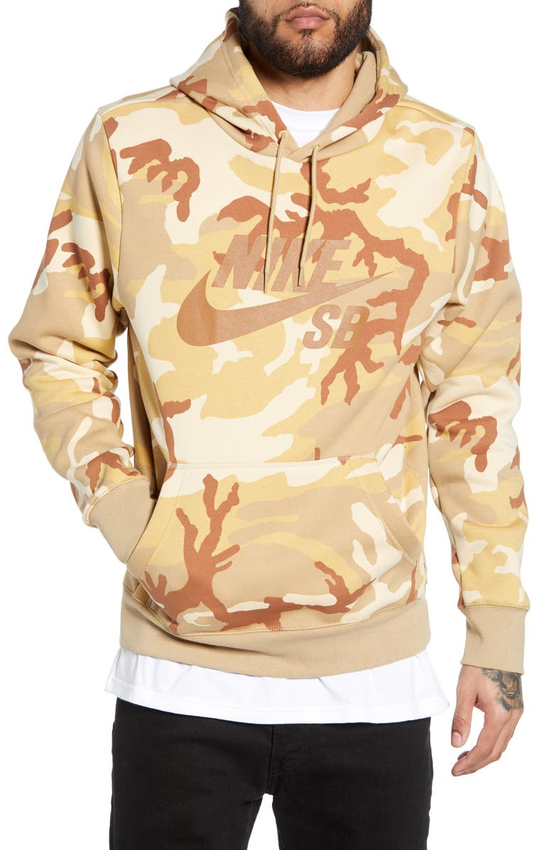 NIKE SB Icon Camo Hoodie, Main, color, 248