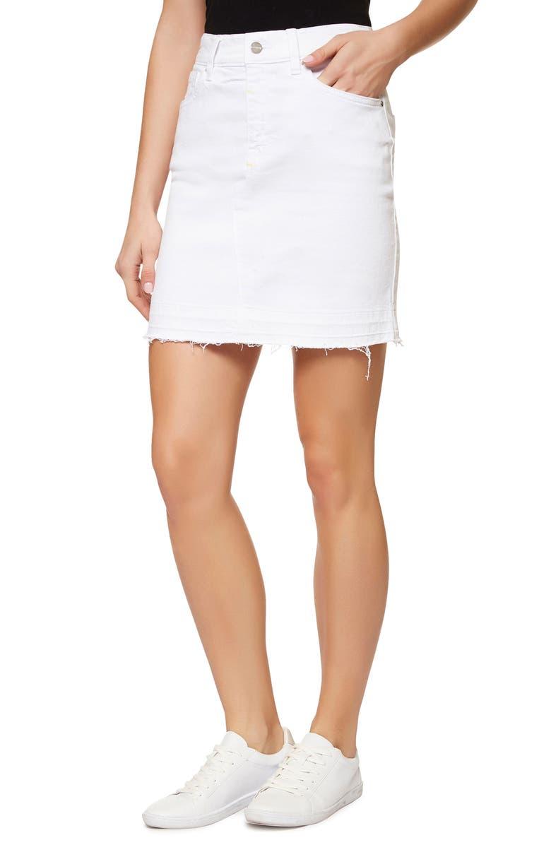 SANCTUARY Peyton Frayed Denim Skirt, Main, color, 114