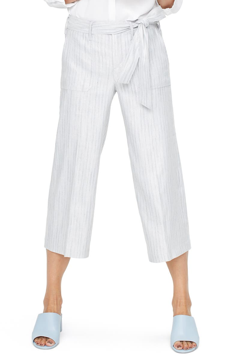 NYDJ Cargo Capri Pants, Main, color, STONE STRIPE
