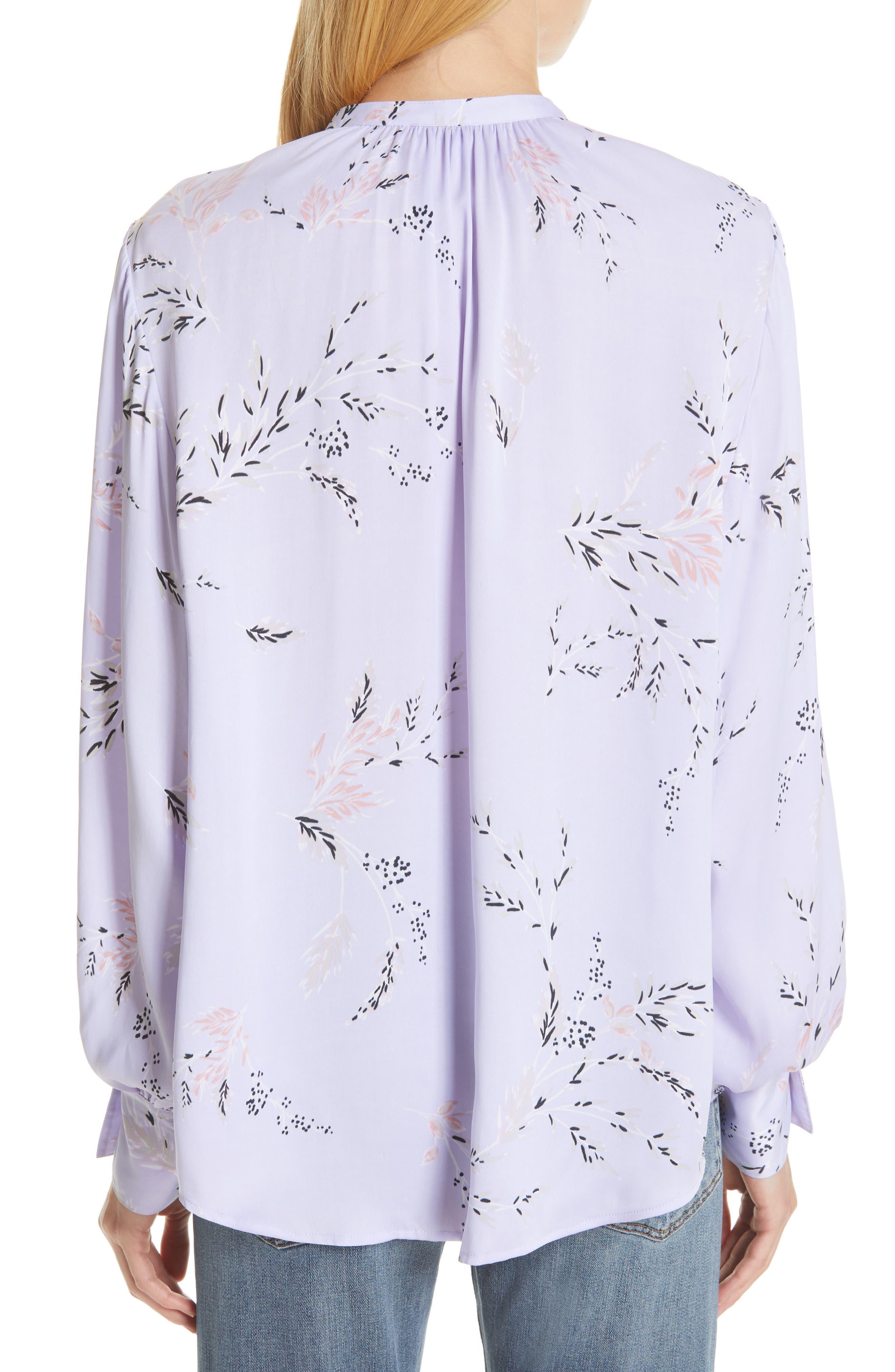 ,                             Causette Silk Blend Shirt,                             Alternate thumbnail 2, color,                             LAVENDER MULTI