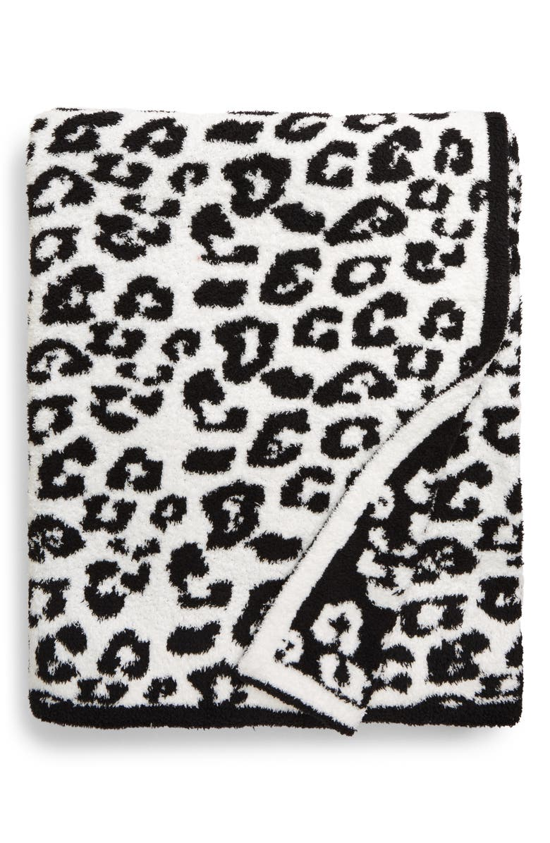 BAREFOOT DREAMS<SUP>®</SUP> In the Wild Throw Blanket, Main, color, MIDNIGHT/ WHITE