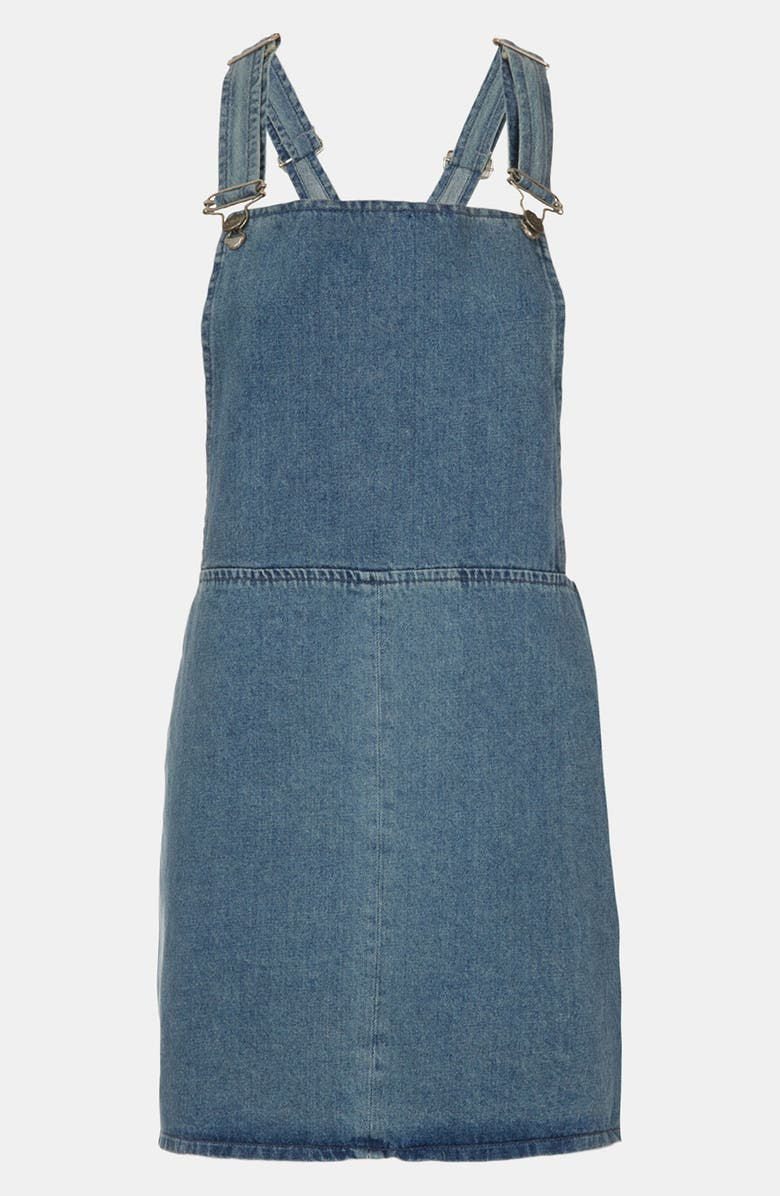 TOPSHOP Denim Jumper, Main, color, 420