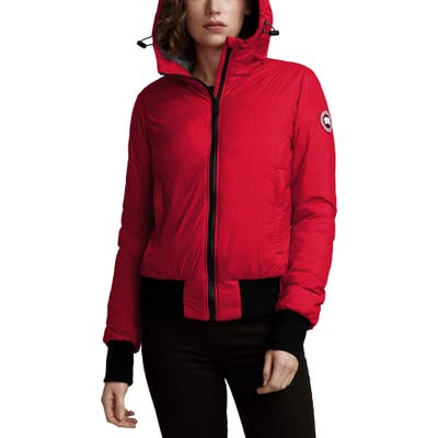 Canada Goose Dore Down Hooded Jacket, Red