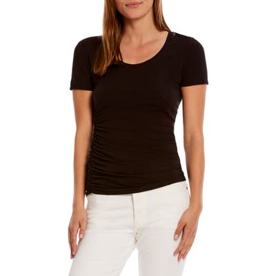 Michael Stars Lily Ruched Tee, Black