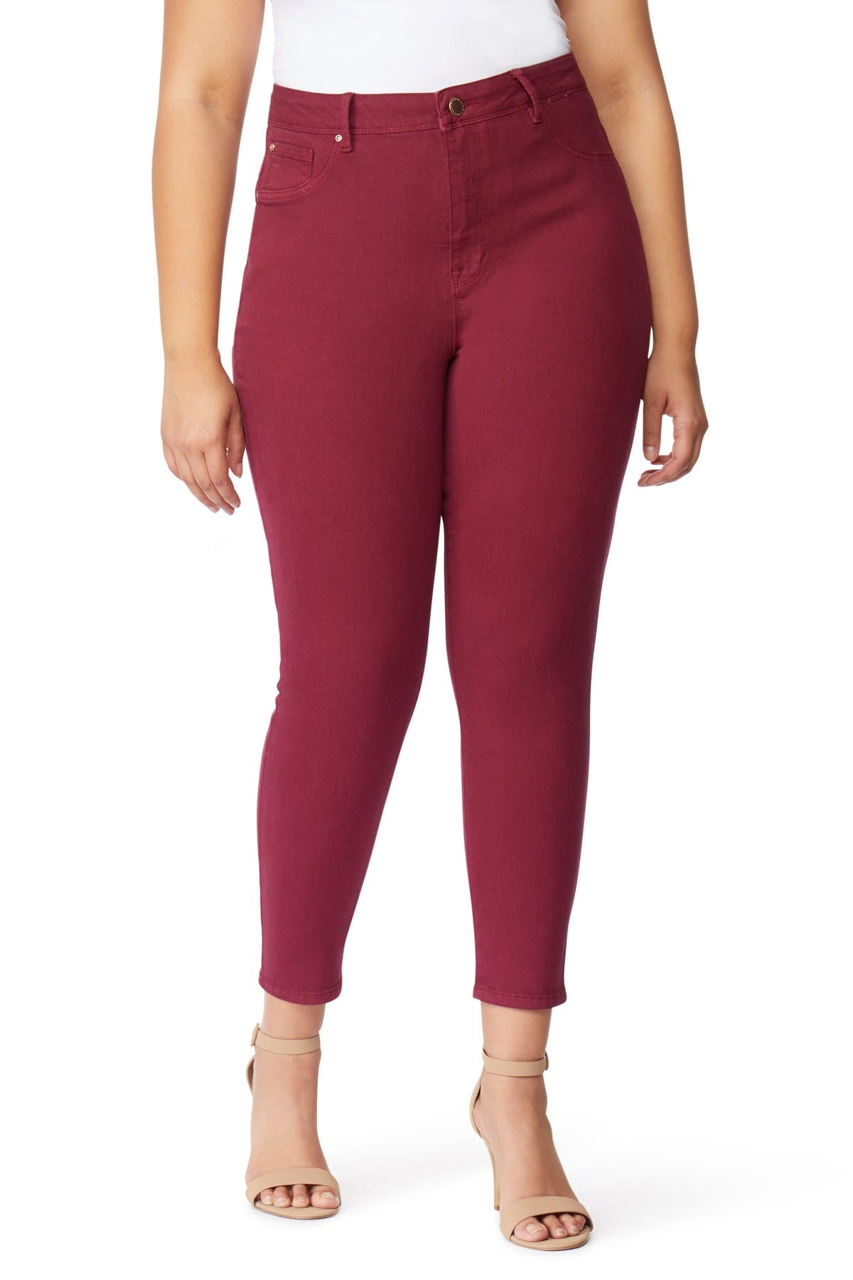 Image of Curve Appeal Solid High Waist Compression Jeggings