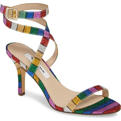 Nina Vanna Ankle Strap Sandal- Blue