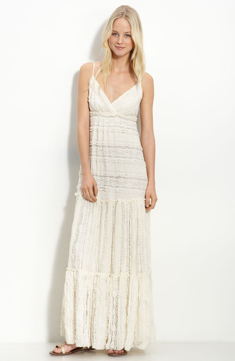 WILLOW & CLAY Lace Maxi Dress, Main, color, 903