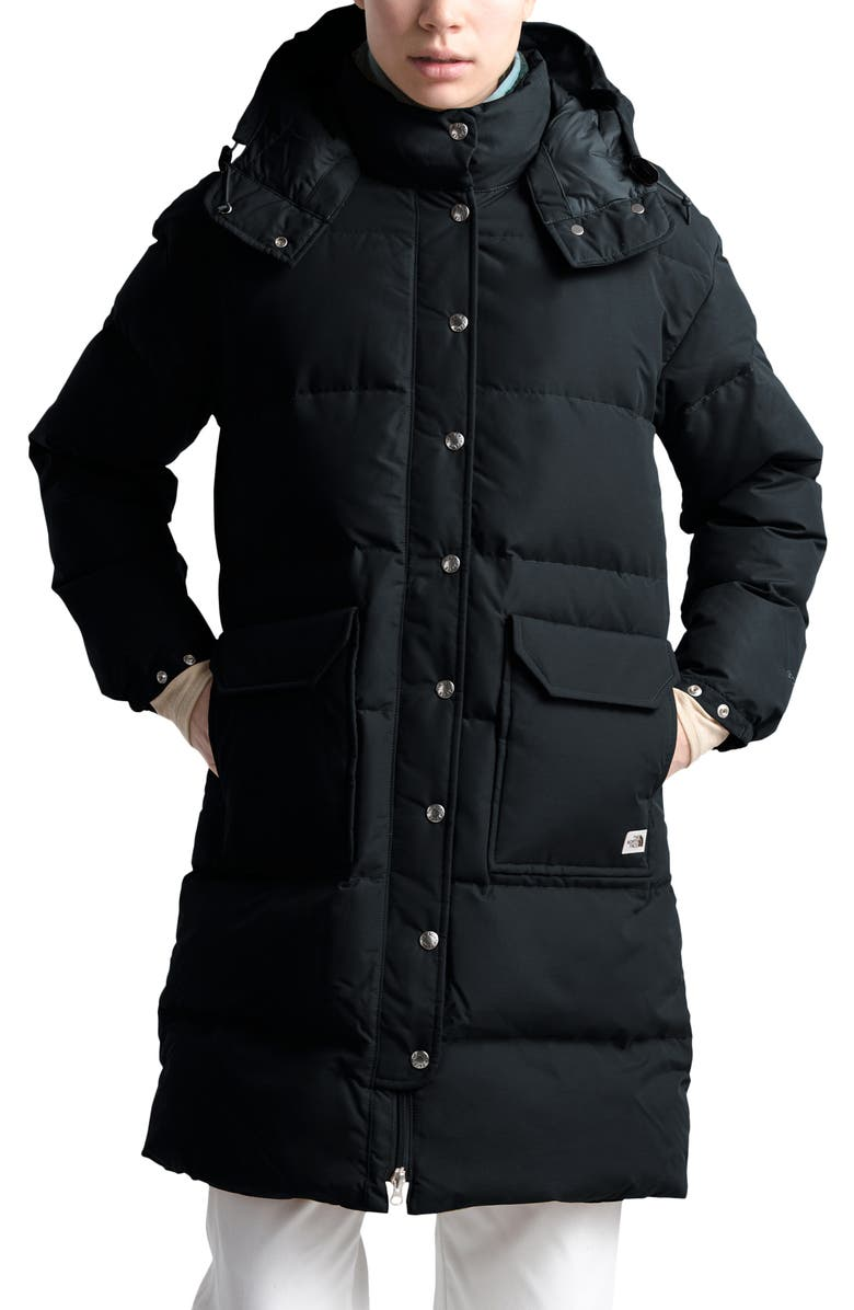 THE NORTH FACE Sierra Water Repellent Down Parka, Main, color, TNF BLACK