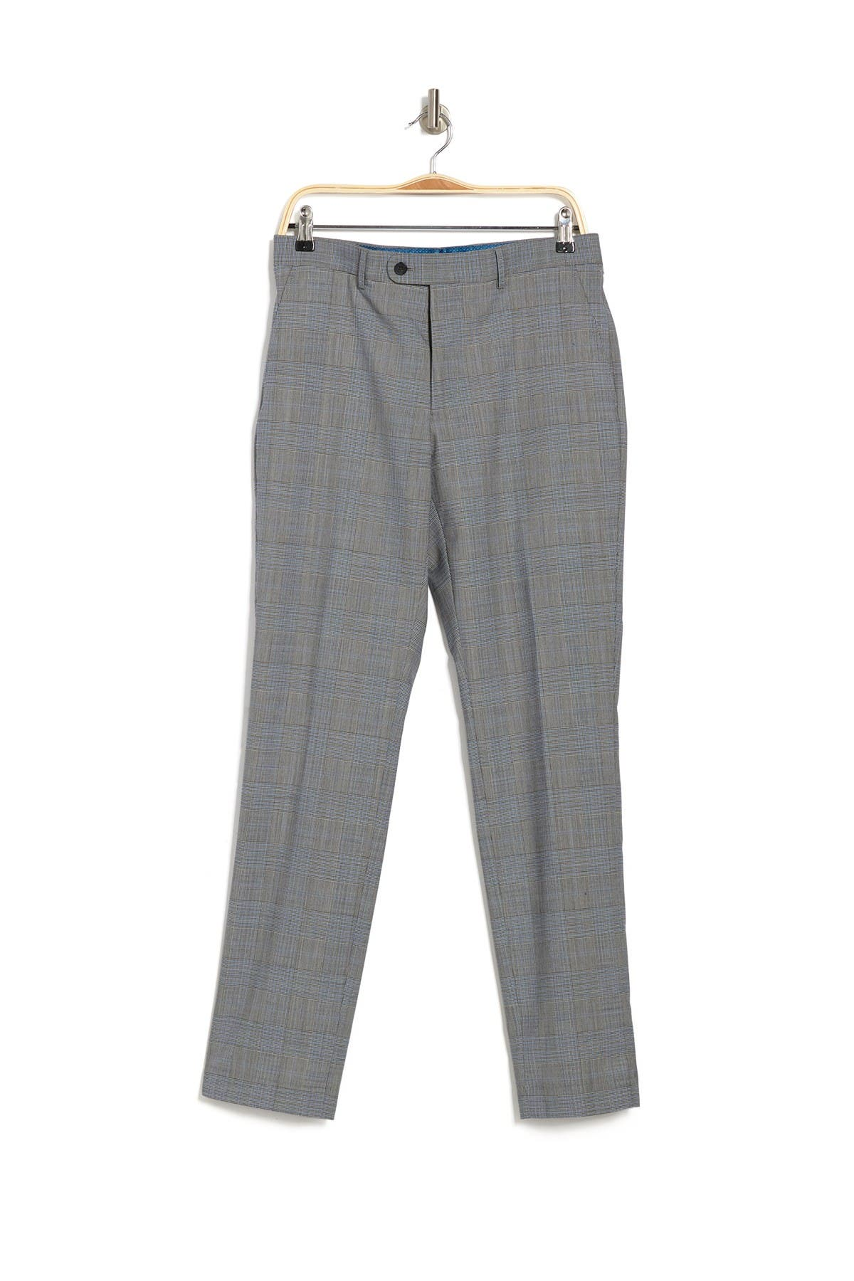 Image of Original Penguin Slim Fit Plaid Printed Trousers