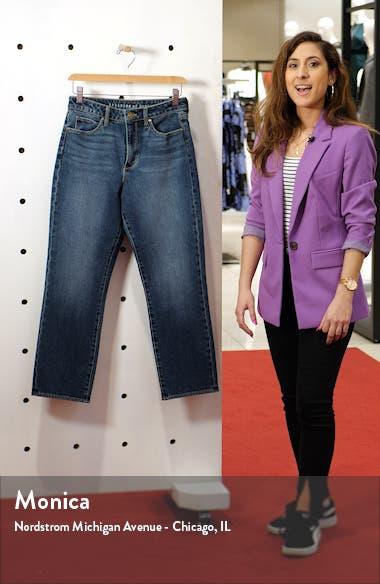 Kate High Waist Crop Straight Leg Jeans, sales video thumbnail