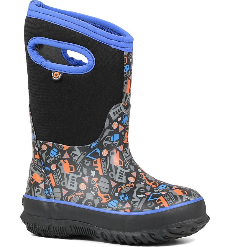 BOGS Classic Construction Insulated Waterproof Boot, Main, color, BLACK MULTI