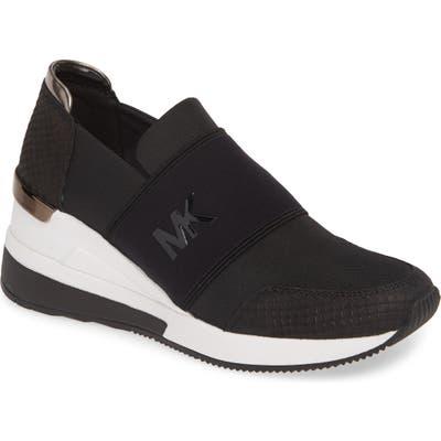 Michael Michael Kors Felix Slip-On Glitter Sneaker, Black