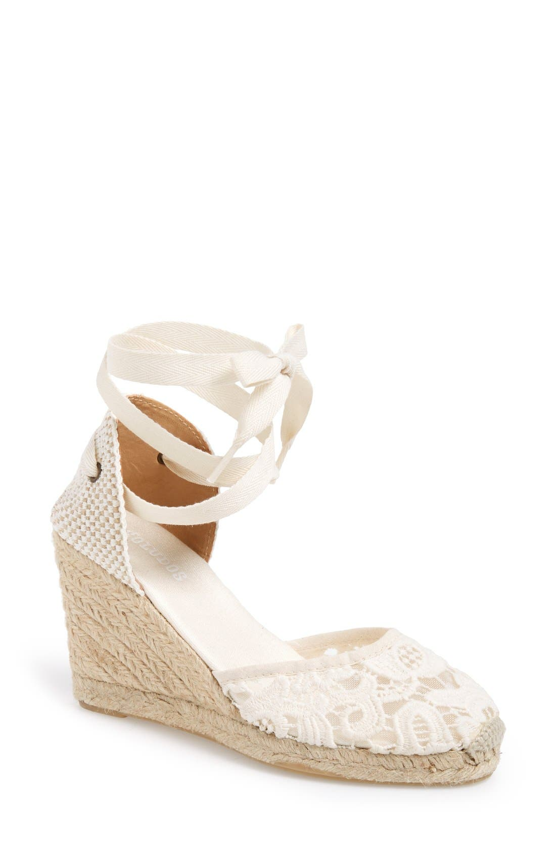 soludos wedge lace up espadrille