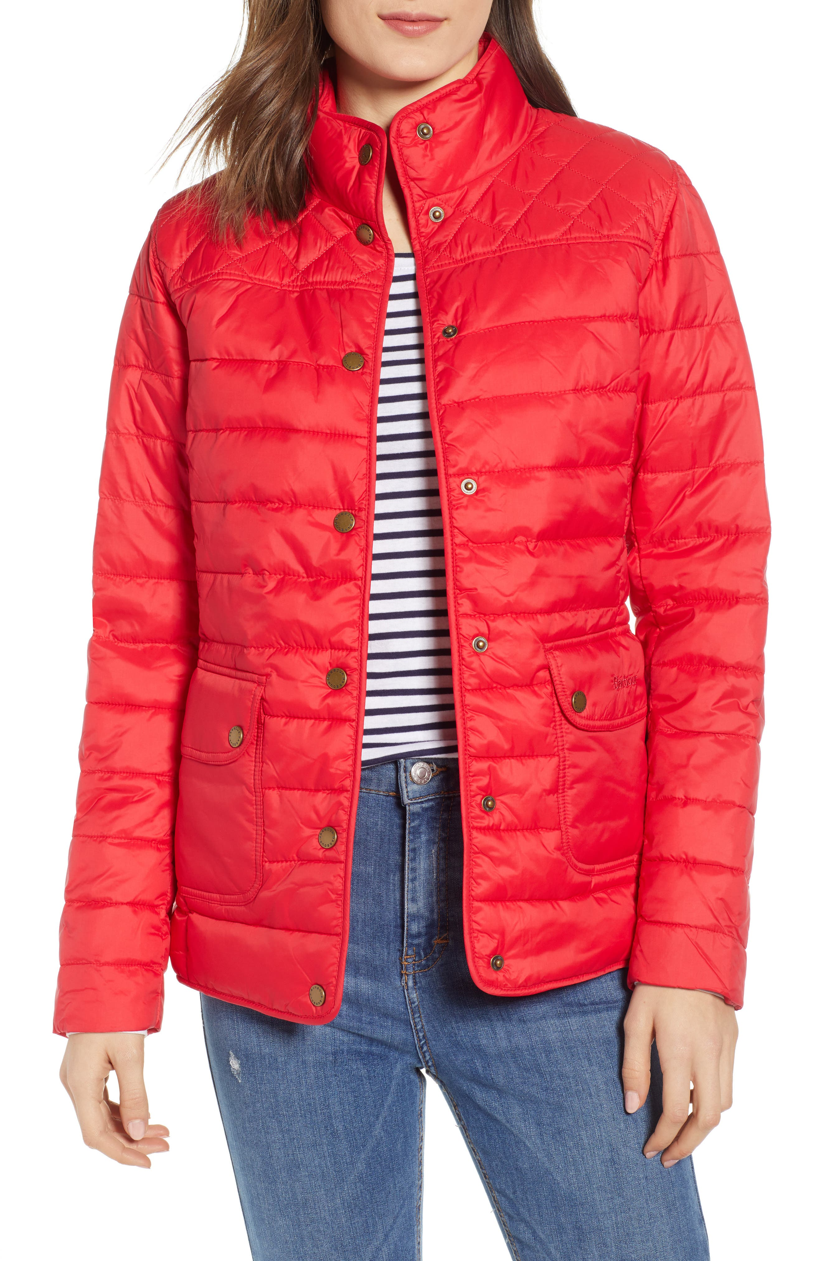 Barbour Coledale Quilted Jacket, US / 16 UK - Red