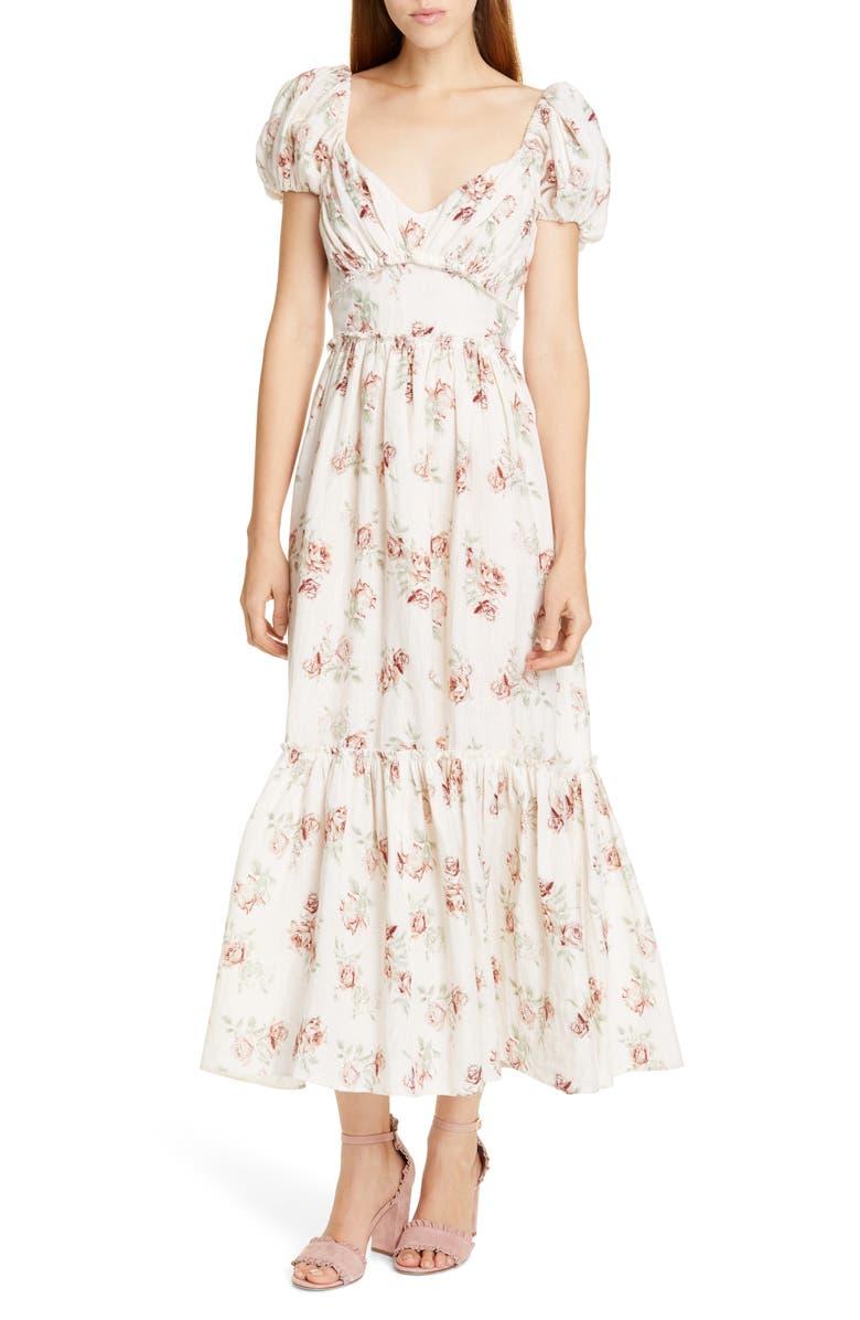 LOVESHACKFANCY Angie Maxi Dress, Main, color, 900